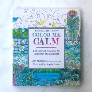 """Urban Outfitters """"Color Me Calm"""" Zen Coloring Book"""